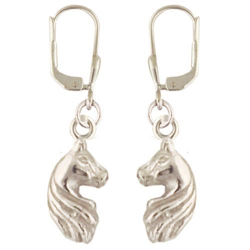 Pferd Ohrhänger silber