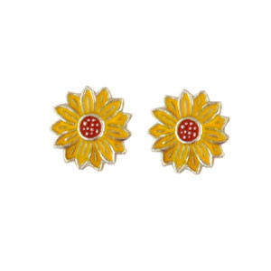 Blüte Ohrstecker gelb