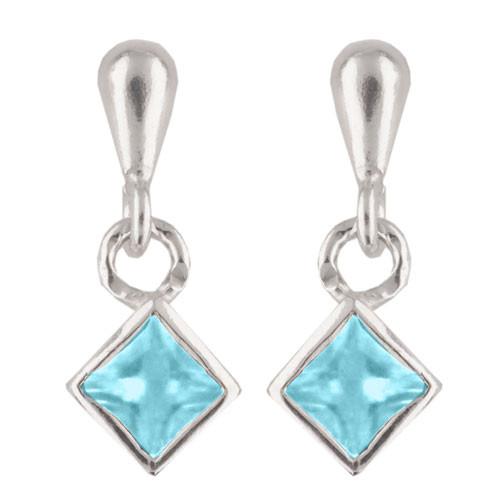 Kristall Ohrhänger hellblau