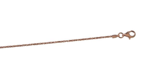 Kette rosé vergoldet diamantiert 1,2 mm/42 cm 925 Silber