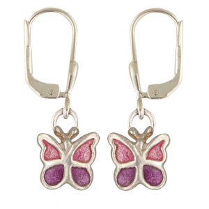 OH Schmetterling lila/pink 925 Silber