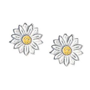 Blüte Ohrstecker weiß