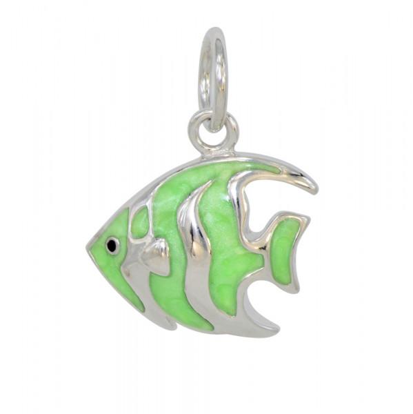 *AH grüner Fisch 925 Silber