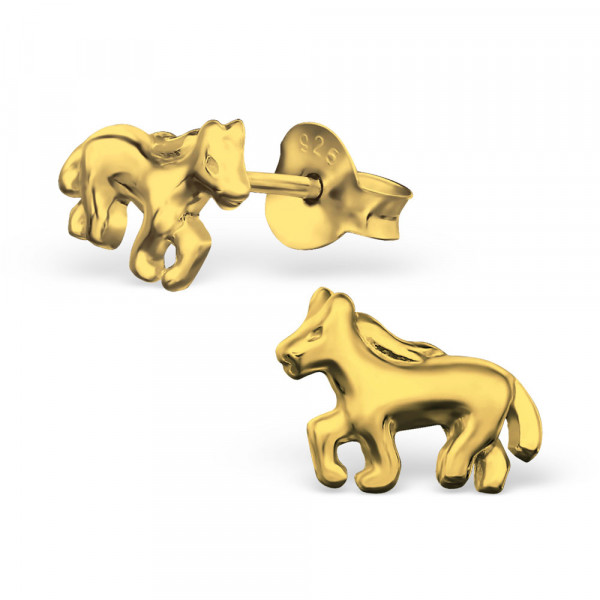 *OS Pferdchen 925 Silber vergoldet