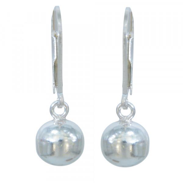 *Ohrhänger 925 Silber Kugel 8 mm