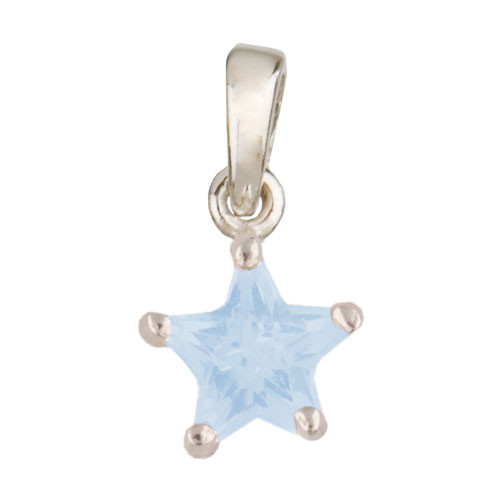 Stern Anhänger hellblau