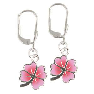 Kleeblatt Ohrhänger rosa