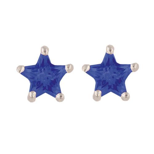 Stern Ohrstecker hellblau