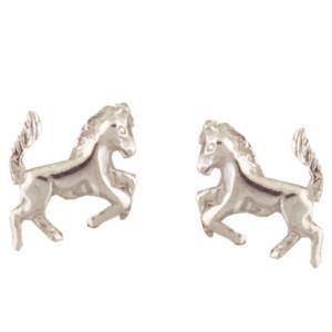 Pferd Ohrstecker silber