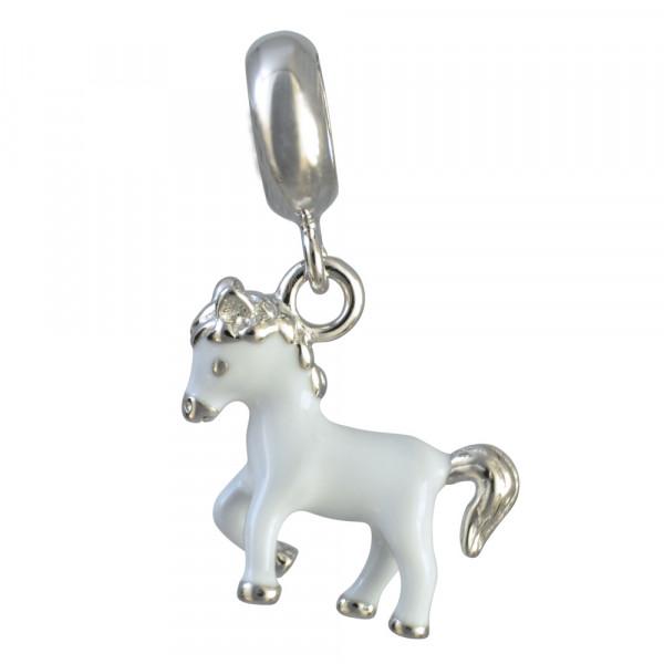 AH Pferd weiß 925 Silber
