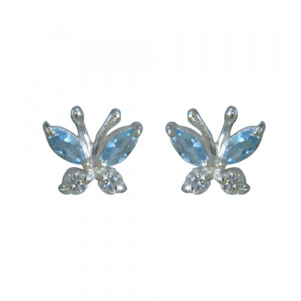OS 925 Kristallschmetterling bleue/weiß e-coated