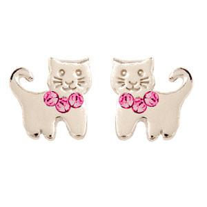 OS Kätzchen rosa Glitzer 925 Silber
