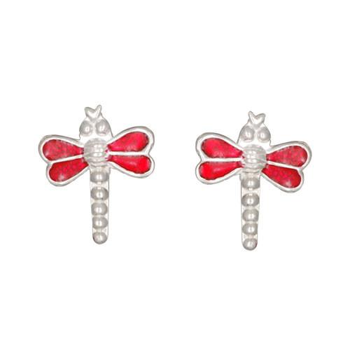 OS Libelle rot 925 Silber e-coated