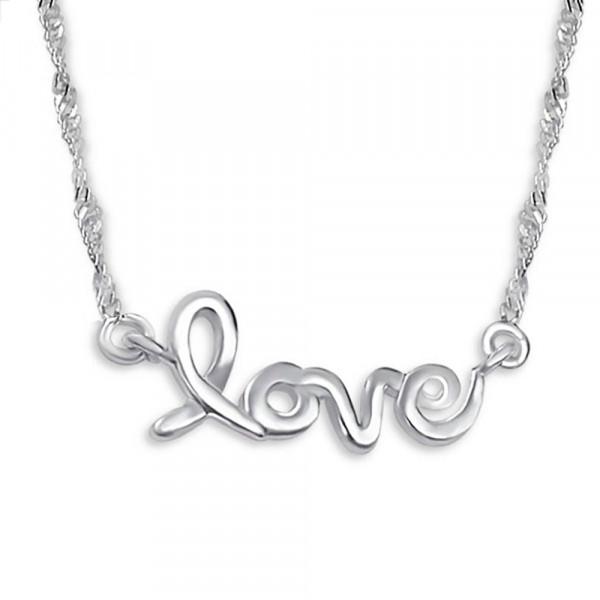 Kette LOVE 45 cm 925 Silber
