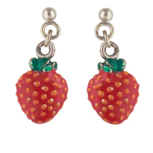 Erdbeeren Ohrhänger