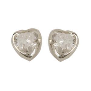 OS Herz weißer Kristall 925 Silber