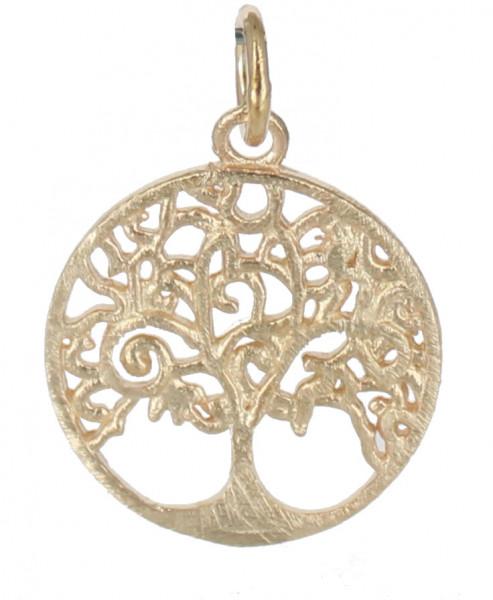 AH rosé verg.* Baum des Lebens * mattiert 925 Silber 15 x 1 mm