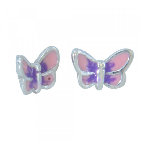 OS Schmetterling lila-rosa 925 Silber