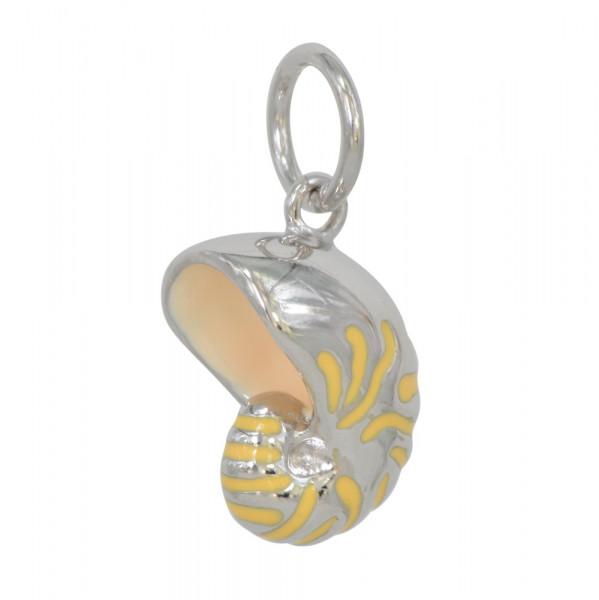 *AH sandgelb Nautilus 925 Silber