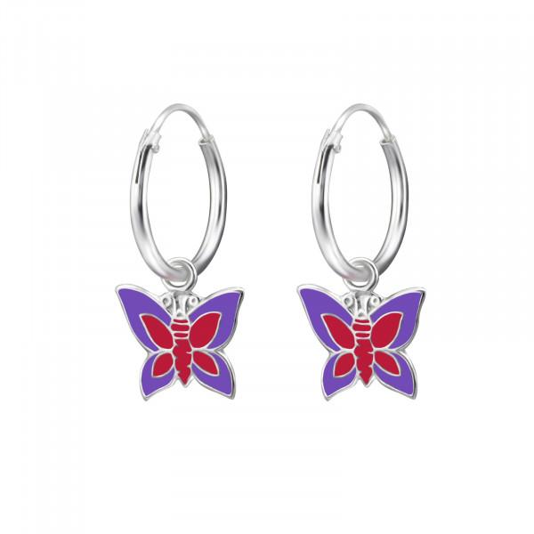 CREOLE Schmetterling rosa/lilia 925 Silber e-coated